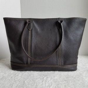 Large Longchamp Leather Tote